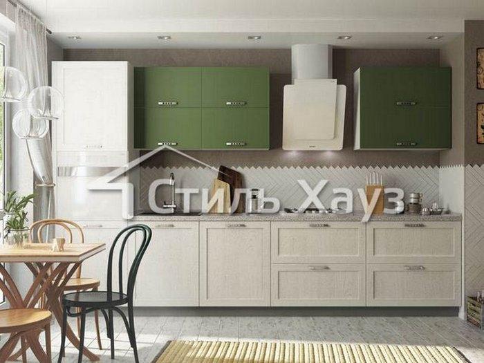Кухня из рамочного МДФ МАРСЕЛЬ-4 и крашеного МДФ матового