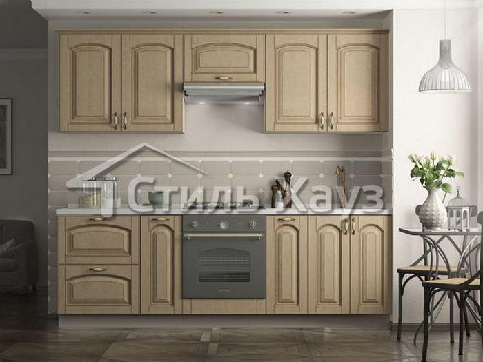 Кухня с фасадами из МДФ, покрытого пленкой ПВХ, с патиной