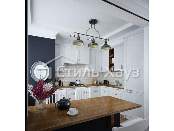 Кухня с фасадами из рамочного МДФ Марсель-4 ПП Дижон/ПП Люберон