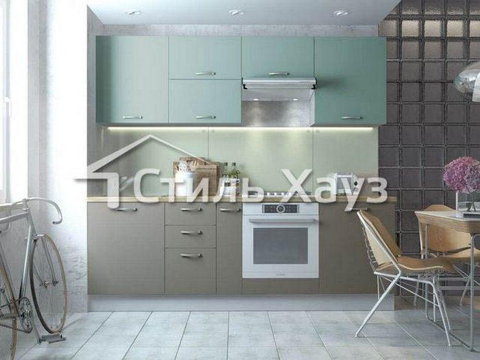 Кухня из крашеного МДФ матового