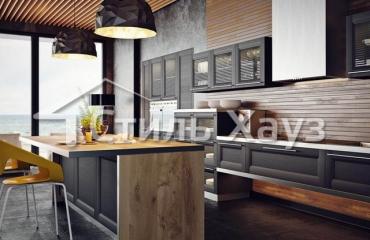 Кухня с фасадами из рамочного МДФ Марсель-3 ПП Винтаж