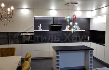 Кухня в современном стиле с фасадами МДФ
