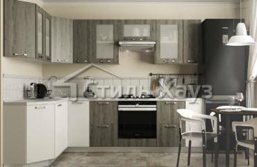 Кухня с фасадами из МДФ, покрытого пленкой ПВХ